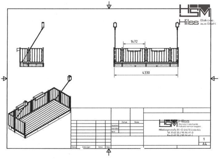 Vorstehbalkone und Anbaubalkone aus Stahl - HSM Hilss - Lindenfels Hsm